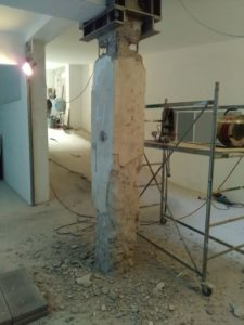 Lifting beam for pillar removal
